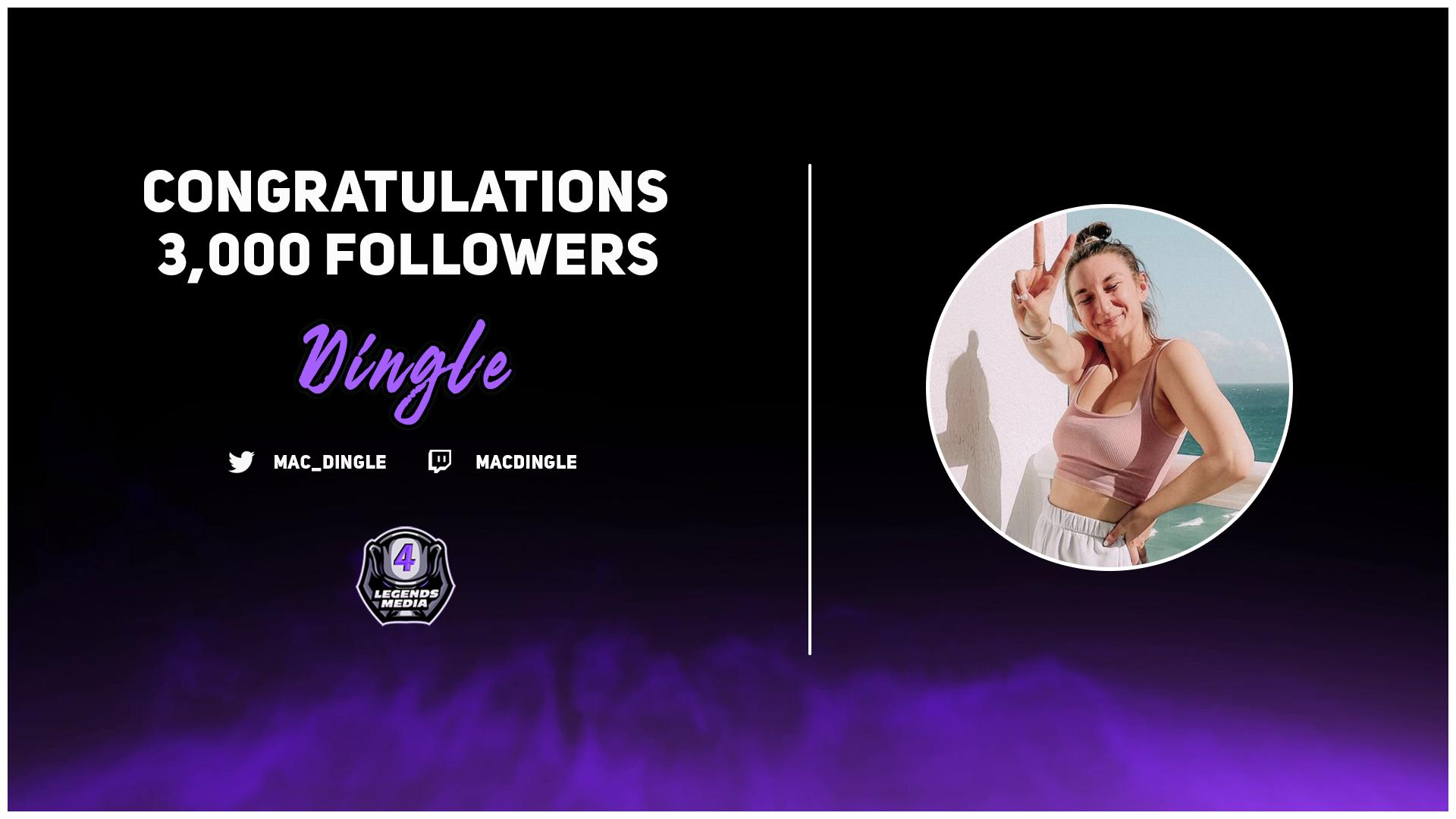 Congrats on 3,000 Twitch Followers, Dingle!