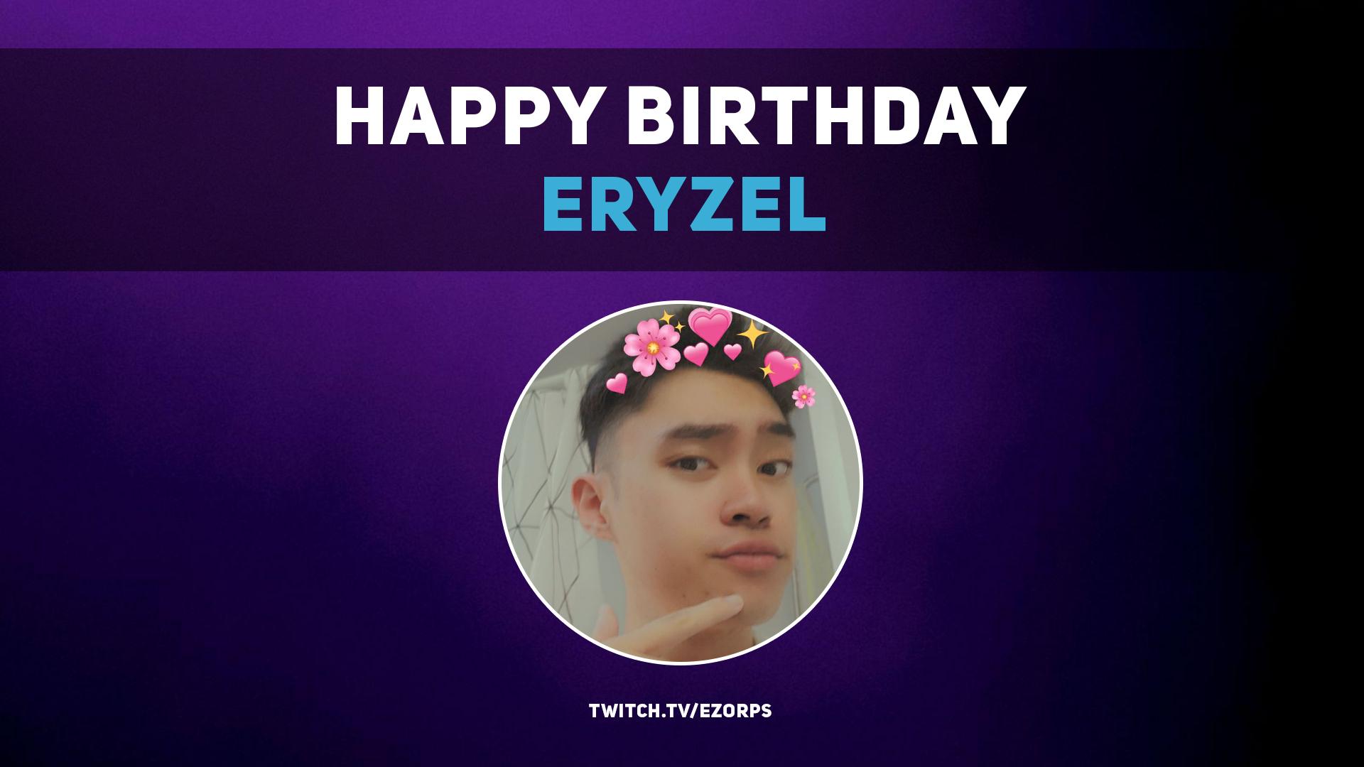 Happy Birthday Eryzel!