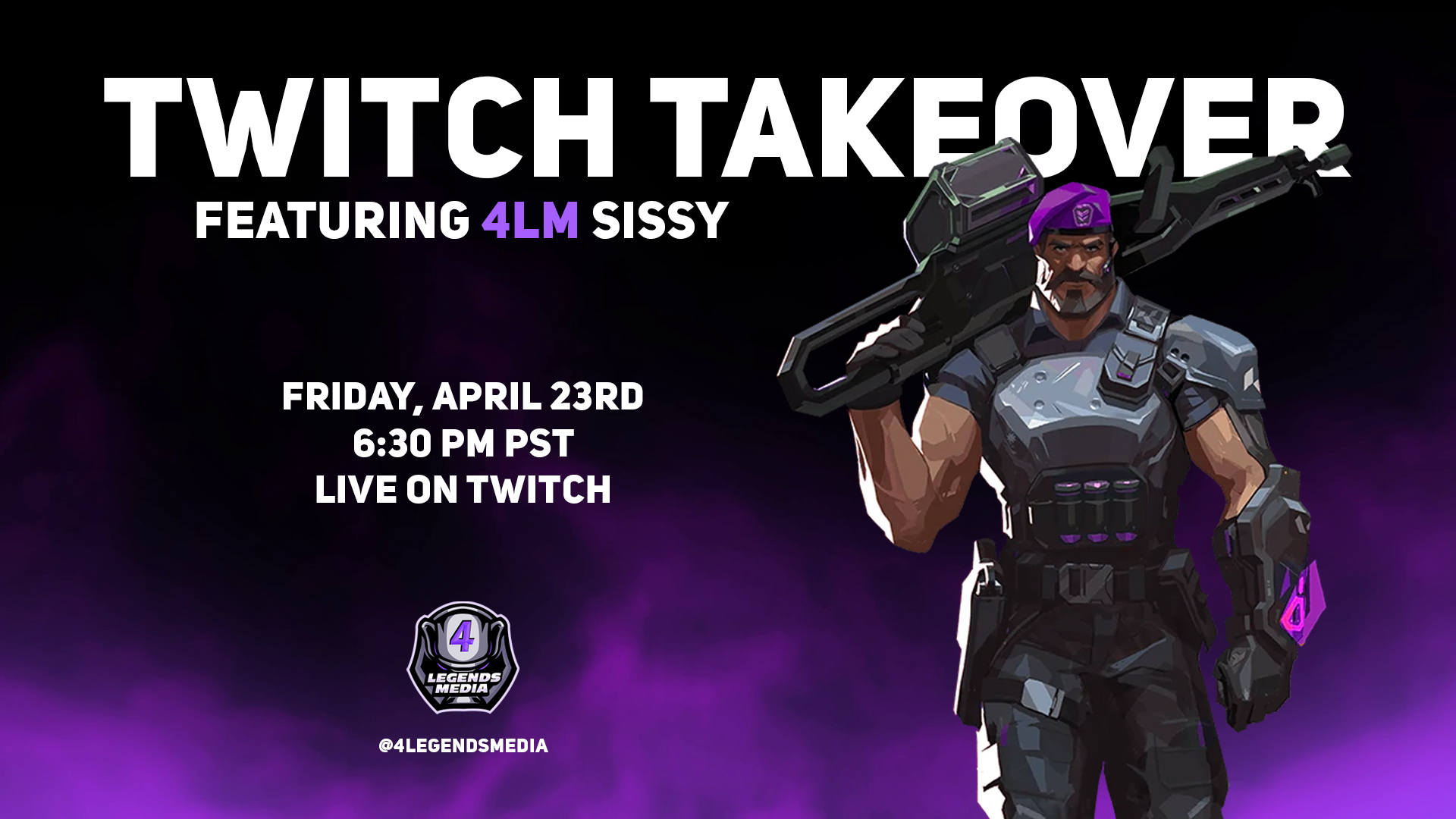 4LM Sissy Valorant Twitch Takeover